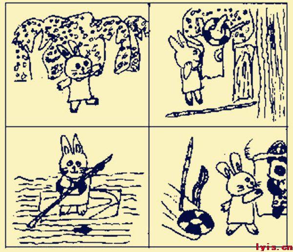 看图写话,一只小兔在把萝卜怎么写小兔子拔萝卜(看图写话)一天,兔妈妈